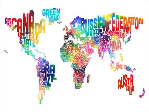 World Map Poster Art Print