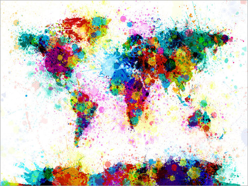 World Map Poster Art Print