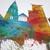 Southampton England Skyline Cityscape PANORAMIC Box Canvas