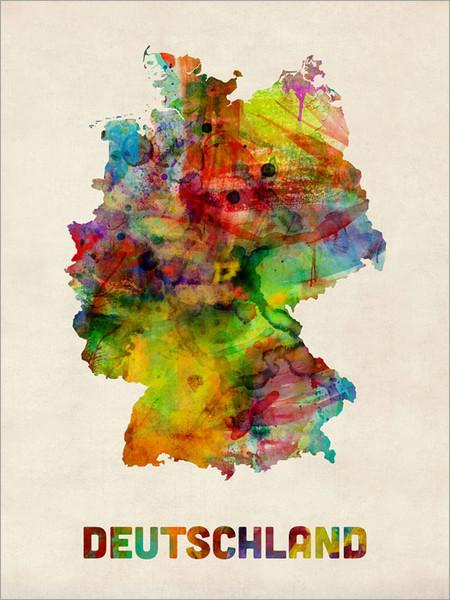 Germany Map Poster Art Print