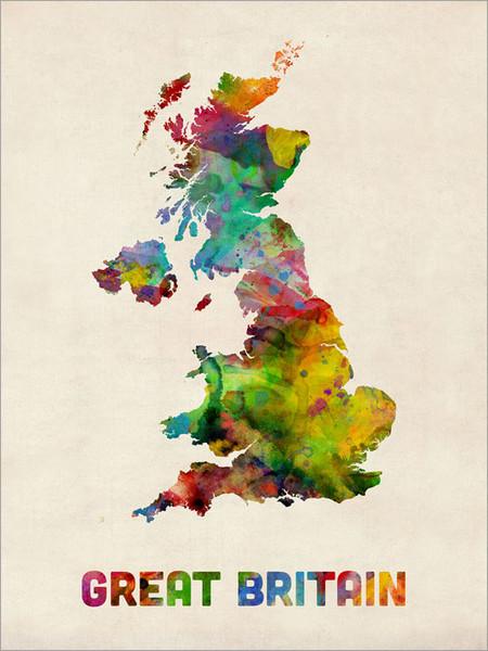 Great Britain Poster Art Print