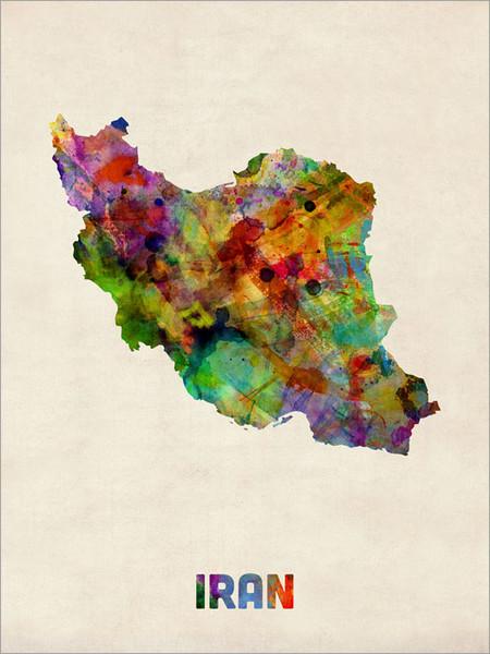 Iran Poster Art Print