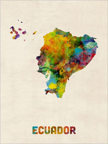 Ecuador Poster Art Print