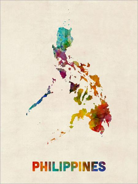 Philippines Poster Art Print