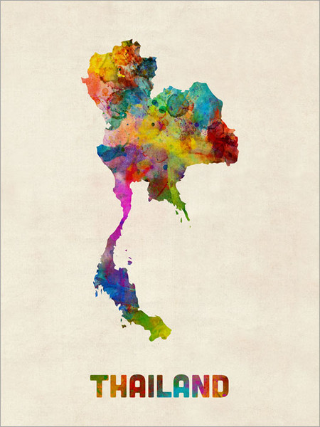 Thailand Poster Art Print