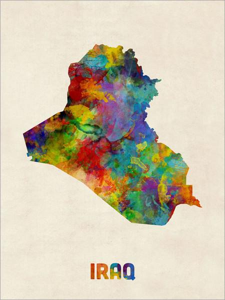 Iraq Poster Art Print