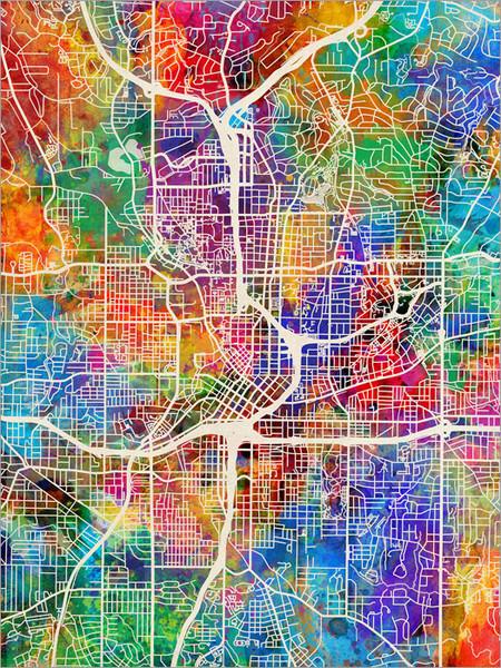 Atlanta Georgia Map Poster Art Print