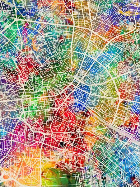 Berlin Germany Map Poster Art Print