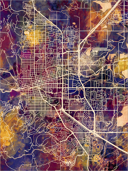 Boulder Colorado Map Poster Art Print