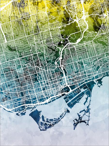 Toronto Canada Map Poster Art Print