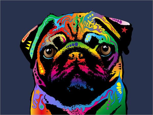 Pug Poster Art Print