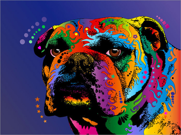 Bulldog Poster Art Print