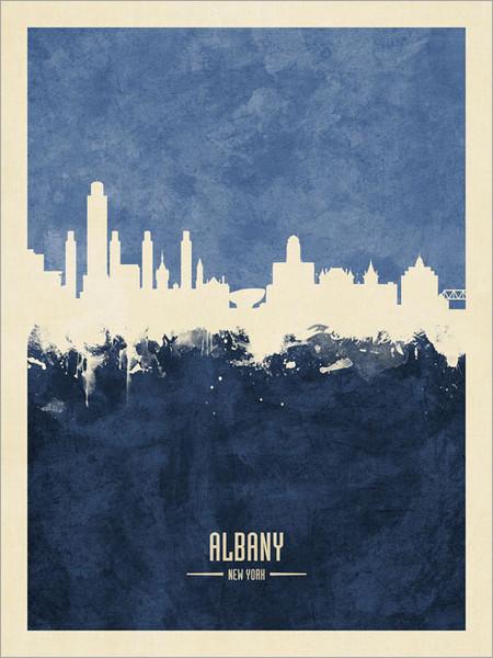 Albany New York Skyline Cityscape Poster Art Print