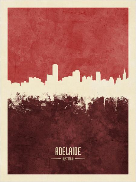 Adelaide Australia Skyline Cityscape Poster Art Print