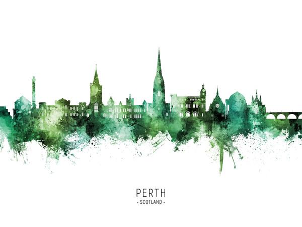 Perth Scotland Skyline Cityscape Poster Art Print