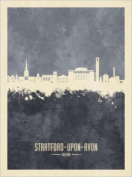 Stratford-upon-Avon England Skyline Cityscape Poster Art Print