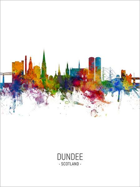 Dundee Scotland Skyline Cityscape Poster Art Print