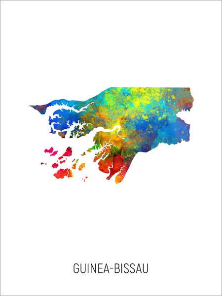 Guinea-Bissau Map Poster Art Print