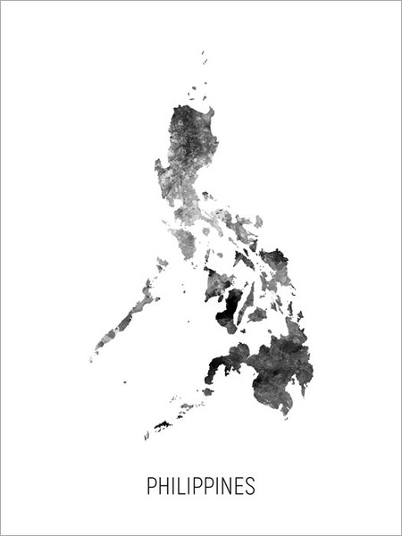 Philippines Map Poster Art Print