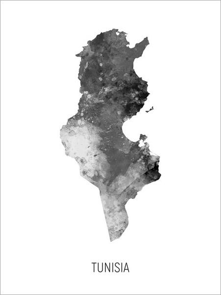 Tunisia Map Poster Art Print