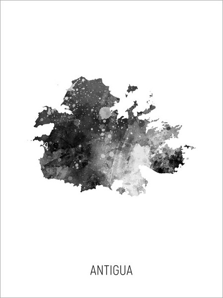 Antigua Map Poster Art Print