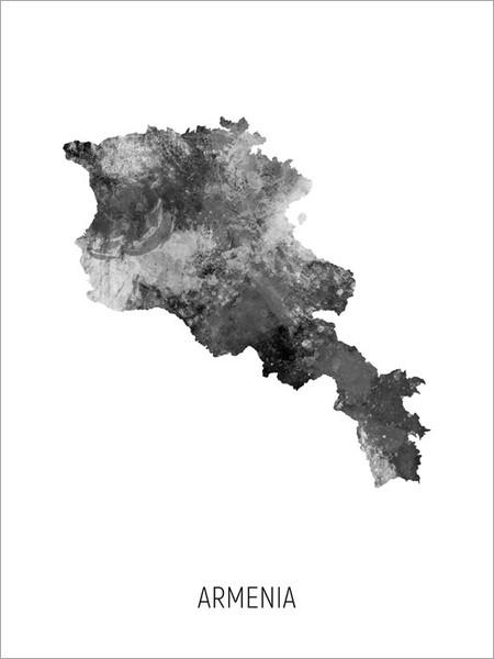 Armenia Map Poster Art Print