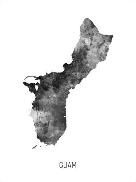 Guam Map Poster Art Print