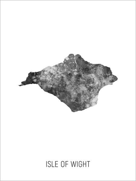 Isle of Wight Map Poster Art Print