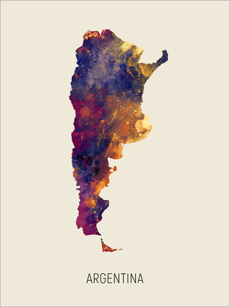 Argentina Map Poster Art Print