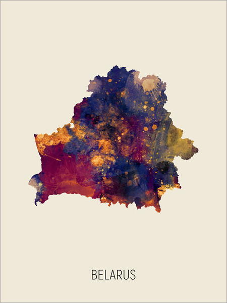 Belarus Map Poster Art Print