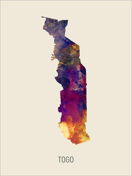Togo Map Poster Art Print