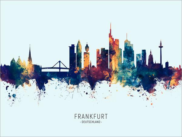 Frankfurt Germany Skyline Cityscape Poster Art Print