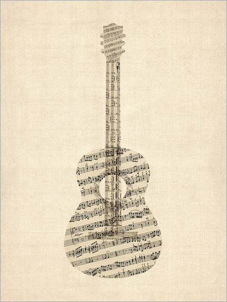 Guitar Poster Art Print