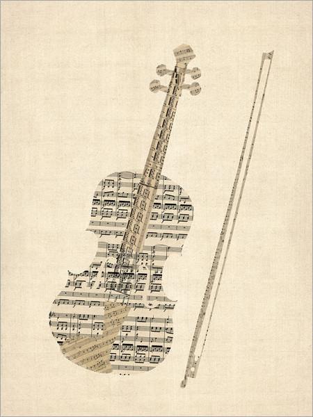 Violin Poster Art Print