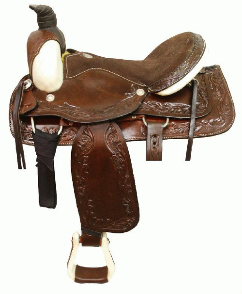"16"" Circle S Basket and Acorn Western Pleasure Saddle_1"