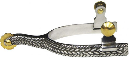 Showman Stainless Steel Spur with Rope Engraving