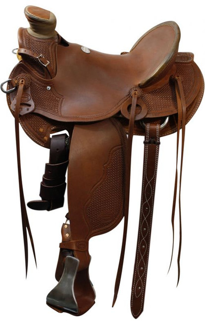 "15"", 16"", 17""  Showman™ Roping Saddle by Showman Saddlery"