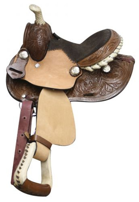 """8"""" Double T Pony/ Youth Saddle with Round Skirt"""