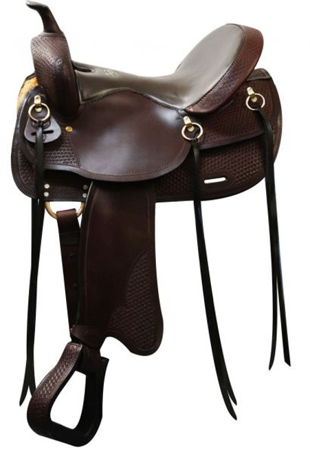 """16"""" Double T Argentina Leather Trail Saddle"""
