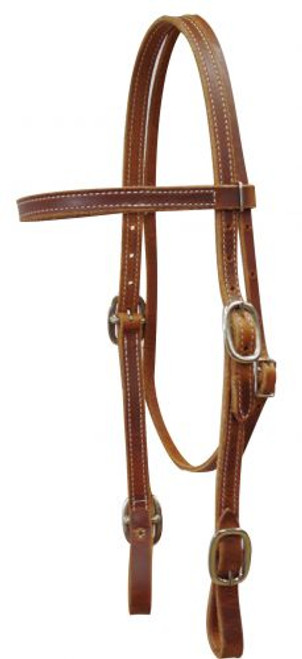American Made Harness Leather Headstall