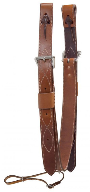 "Showman ® 2"" Wide Leather Back Cinch with Roller Buckles"