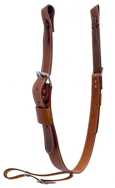 """Showman ® 1.75"""" Wide Leather Back Cinch with Roller Buckles"""