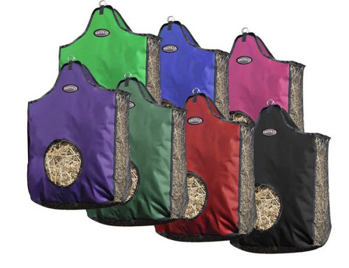 Showman® Heavy denier nylon hay bag with mesh sides