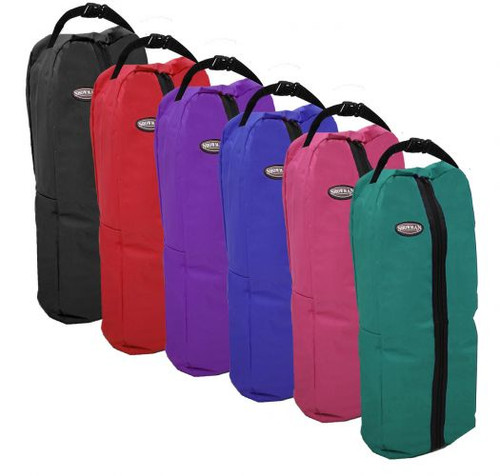 Showman® Nylon halter & bridle bag with zipper front.