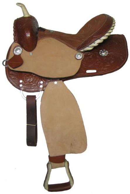 """14"""", 15"""", 16"""" Double T barrel saddle."""