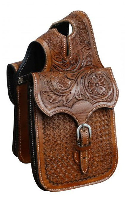 Showman ® Tooled leather horn bag.