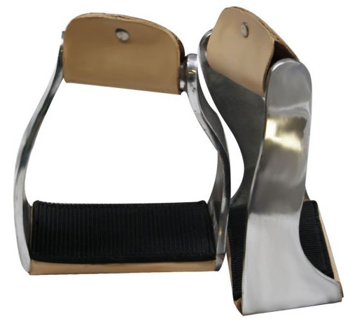 Showman™ Lightweight Twisted Aluminum Stirrups with Wide Rubber Grip Tread