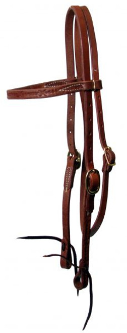 Showman Oiled Harness Leather Headstall. Made in USA