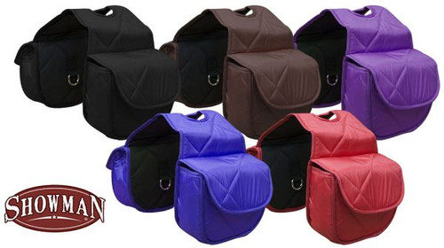 Insulated Quilted Nylon Horn Bag with Velcro Close