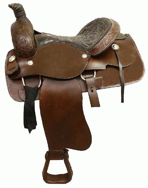 Circle 'S' Western Partial Floral Ranch Roper / Pleasure Saddle